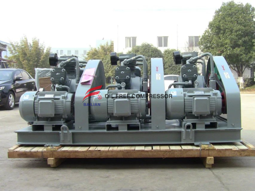 heavy duty food industrial oil free piston type air compressor