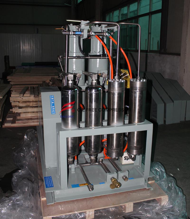 Oil Free High Pressure Argon Gas Compressor in Car