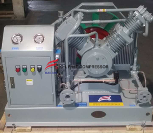 Oil Free High Pressure Argon Compressor in Car